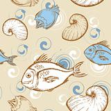 marine seamless pattern