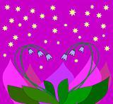 Bluebell Heart