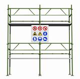 Green scaffold 