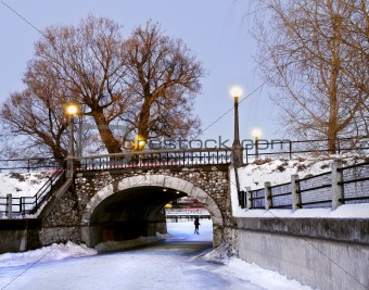 Winter Stone Bridge
