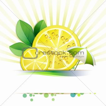 Slices lemon