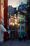 Riga's medieval street