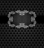 Abstract metal dark frame background