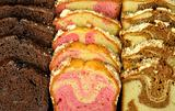 assortment of loaf cake slices