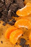 Mandarin Oranges with Chocolate Chunks