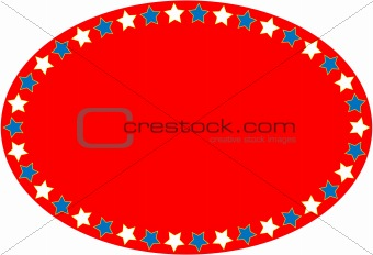 EPS8 Vector Red White Blue Oval Star Background