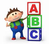 boy with ABC blocks