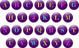 Alphabet buttons collection