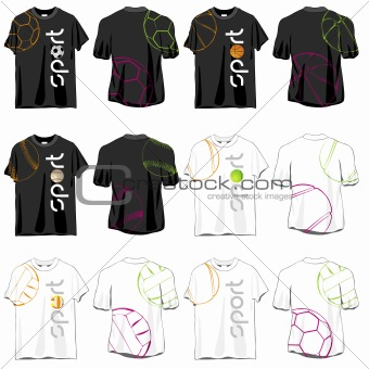 Sport T-shirts Designs Set