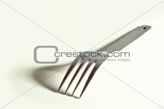 metallic fork