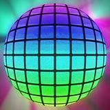 Colorful lighted ball