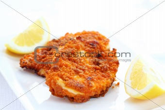 Fried chicken schnitzel