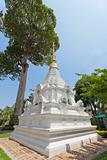 White stupa in Chedi Luang Temple, Chiang Mai, Thailand