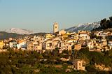 Mediterranean winter scene
