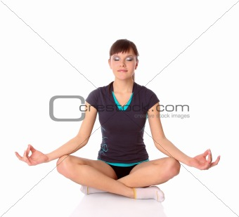 teenage girl in gymnastics poses