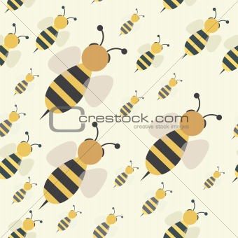 abstract bee swarm seamless