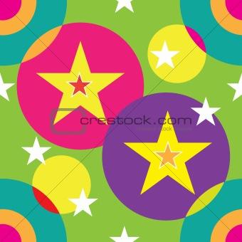 Circles and Stars Seamless