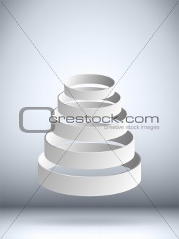 Futuristic Flying Circles Background