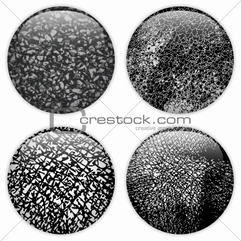 Glass Circle Buttons Grunge Textures