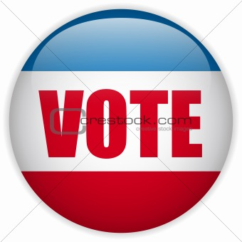 United States Election Vote Button.