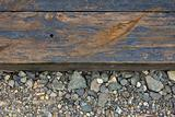 Railroad Track Closeup Background