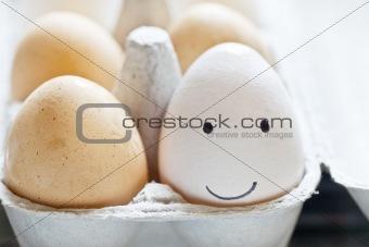 Smiley face egg