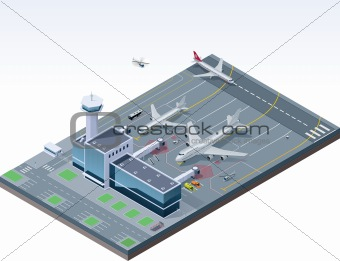 Vector isometric airport