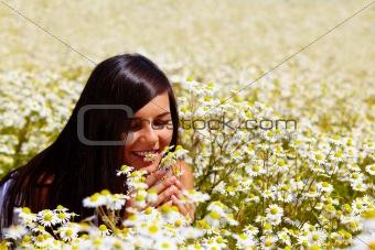 Among flowers