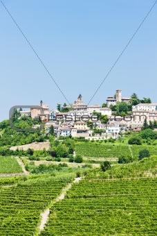 Neive wth vineyards, Piedmont, Italy