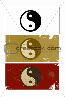 Yin and Yang sign vector