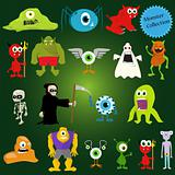 halloween vector monsters