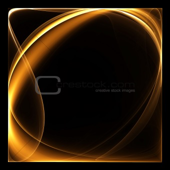 Abstract color image on a black background design illustration.