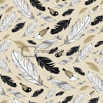 pattern of feathers