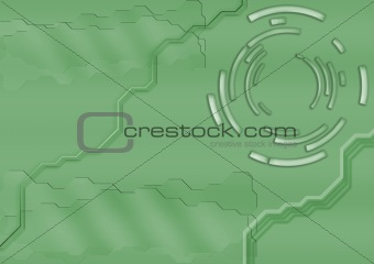 abstract tech green backdrop