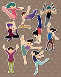 cartoon gymnastic stickers