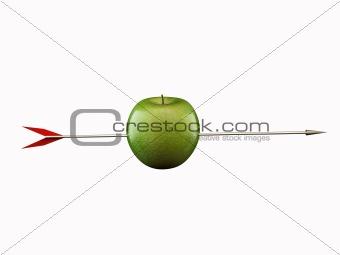 apple with arrow