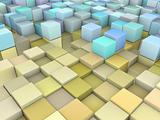 abstract 3d gradient backdrop in multiple yellow blue