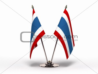 Miniature Flag of Thailand (Isolated)
