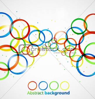 Abstract circle colorful background. Vector illustration eps10
