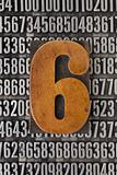 number six  - numerical abstract