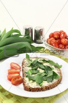 wild garlic bread