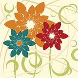Stylized Flower background
