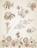 doodle vector design elements