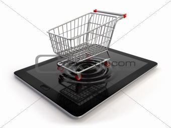 Cart from tablet