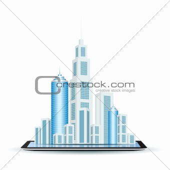 Business City on Tablet Computer