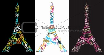 Eiffel Tower illustrations