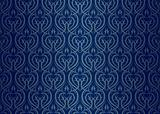 Seamless wallpaper pattern silver blue