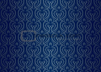 Seamless wallpaper pattern silver blue