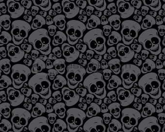 Wallpaper pattern skulls
