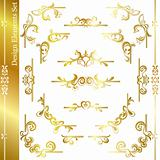 Gold luxury frame